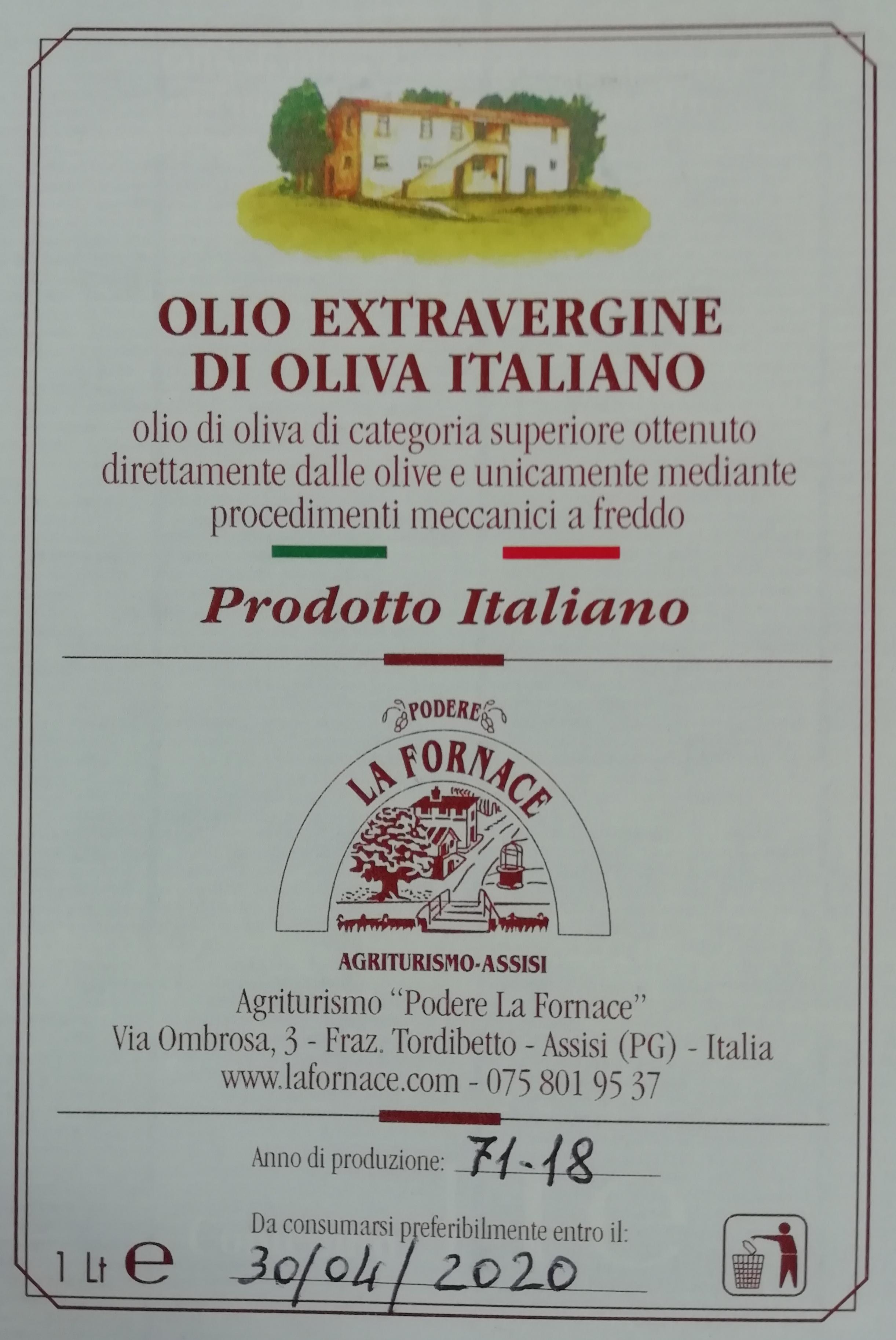 Olio EVO ITALIANO