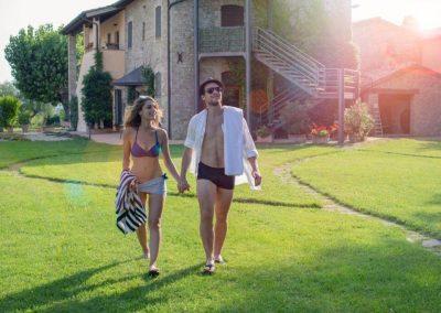 Agriturismo Assisi con giardino
